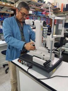 Reparación de láser oftalmológico