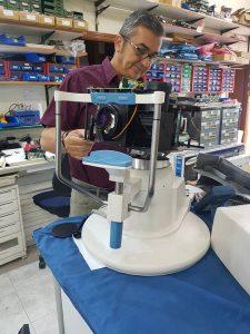 Reparación de Campimetro de oftalmología