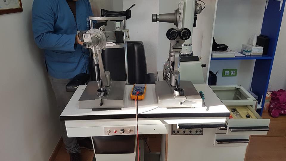 Reparacion de silla oftalmologica.