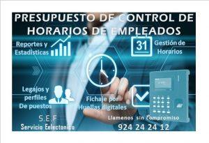 PRESUPUESTO DE CONTROL DE HORARIO DE LOS EMPLEADOS